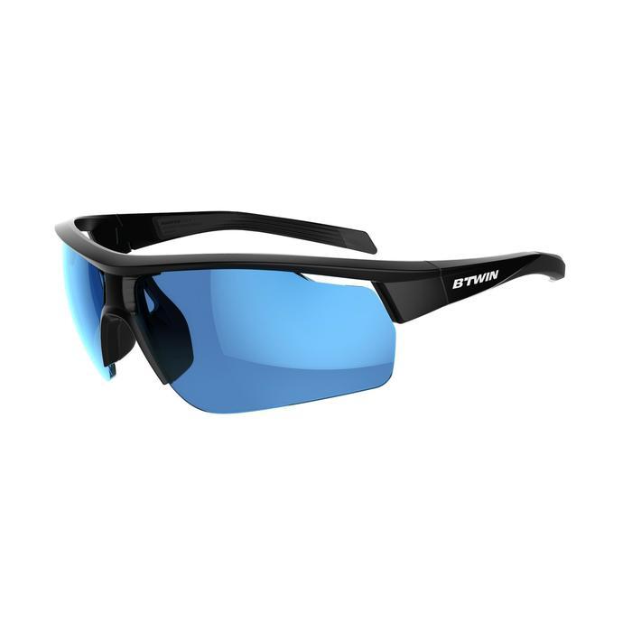Fietsbril volwassenen Roadr 500 categorie 3 zwart - 1251922