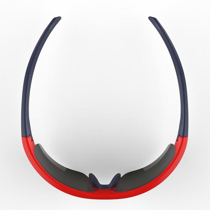 Fietsbril volwassenen Roadr 500 categorie 3 rood en marineblauw - 1251926