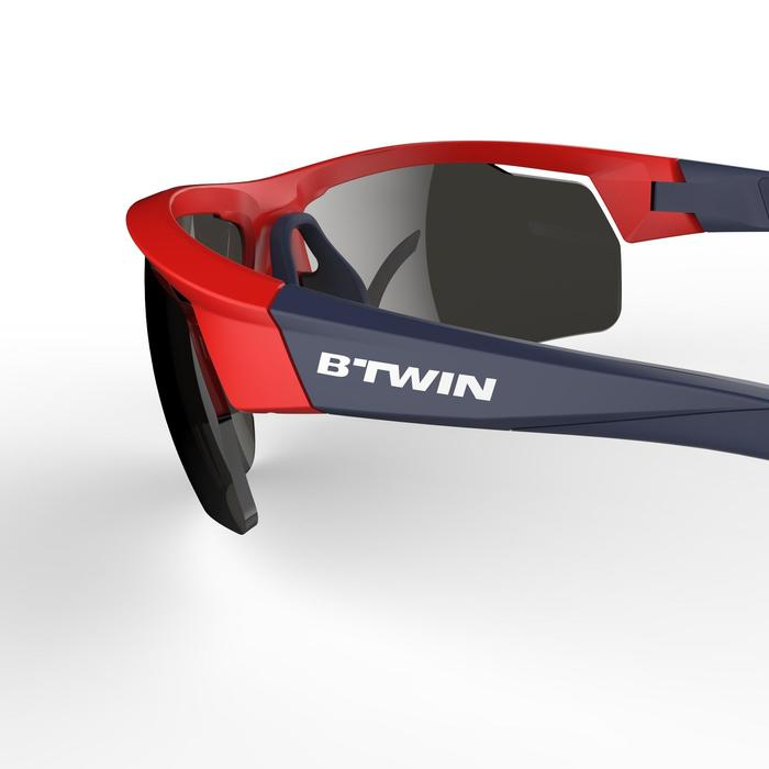 Fietsbril volwassenen Roadr 500 categorie 3 rood en marineblauw - 1251928