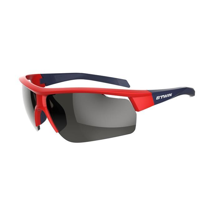 Fietsbril volwassenen Roadr 500 categorie 3 rood en marineblauw - 1251932