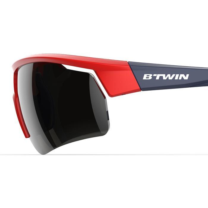 Fietsbril volwassenen Roadr 500 categorie 3 rood en marineblauw