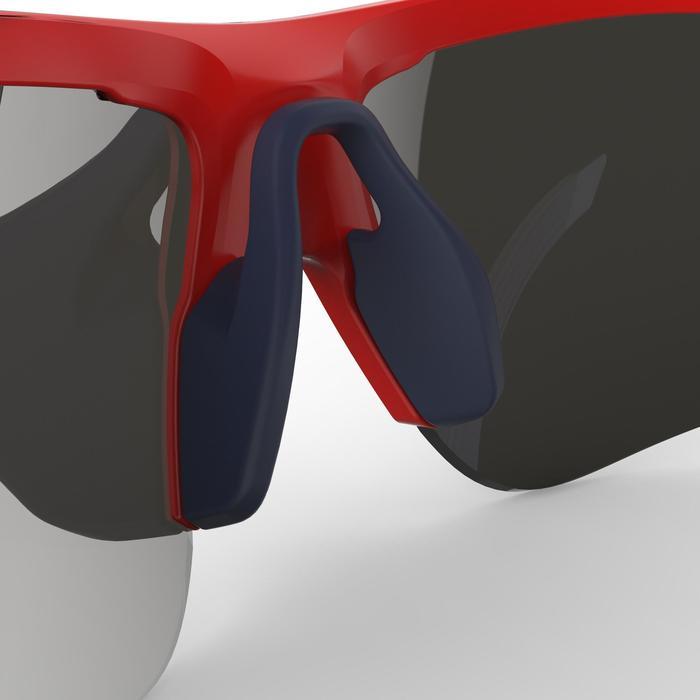 Fietsbril volwassenen Roadr 500 categorie 3 rood en marineblauw - 1251936