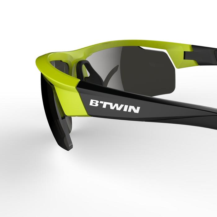 Fahrradbrille Roadr 500 Erwachsene Kat. 3 gelb/neongrün