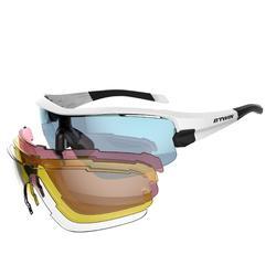 Gafas de ciclismo adulto ROADR 900 BLUE PACK azul - 4 cristales intercambiables