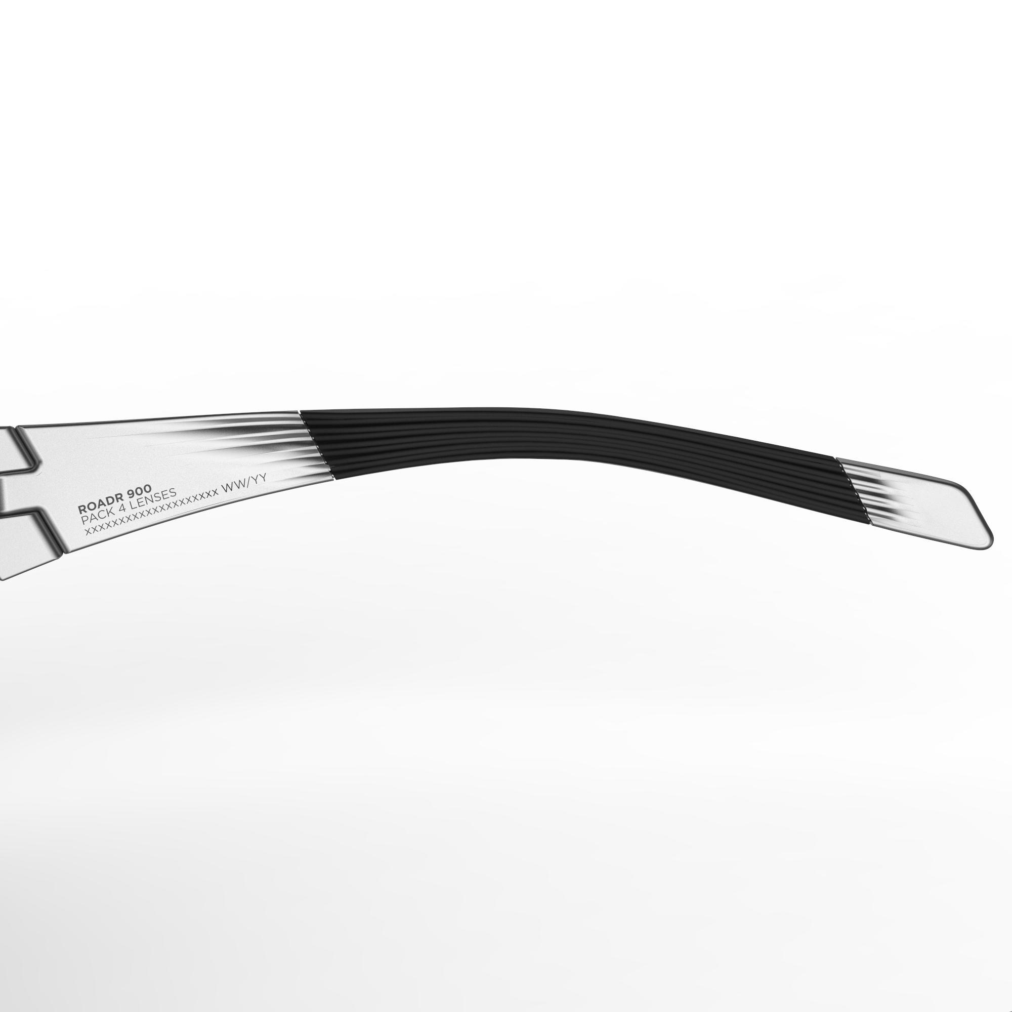 Lunettes de vélo adulte ROADR 900 GRIS - 4 verres interchangeables