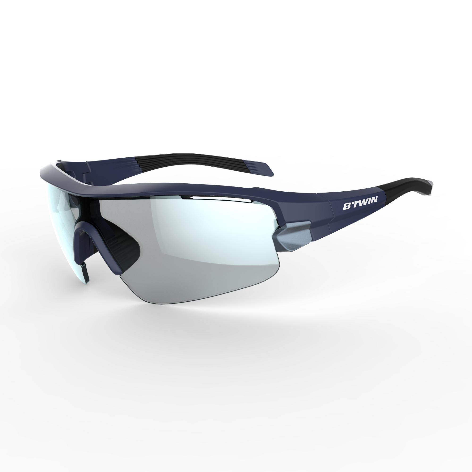 Roadr 900 Cycling Adult Sunglasses With 4-Pack Interchangeable Lenses - Navy