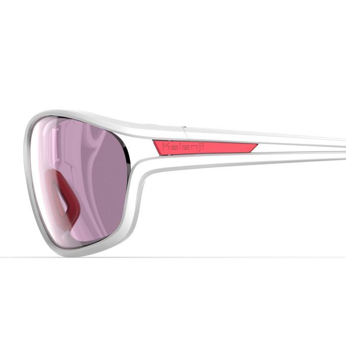 Lunettes de running adulte JSG 500 blanc rose catégorie 3