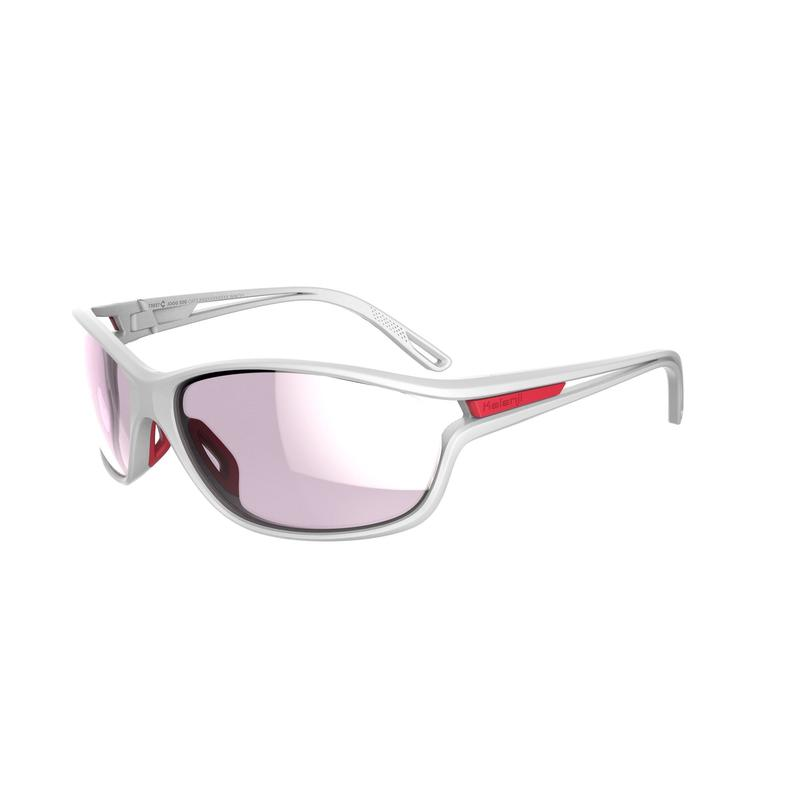 RUNSTYLE ADULT CATEGORY 3 RUNNING GLASSES - WHITE/PINK