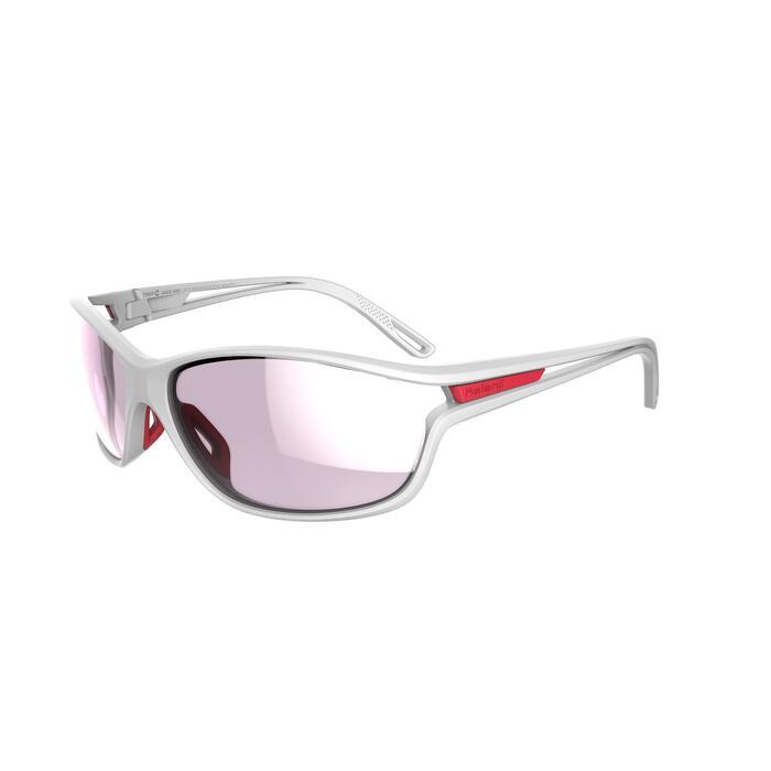 Lunettes de running adulte JOG 500 C3 blanches et roses catégorie 3
