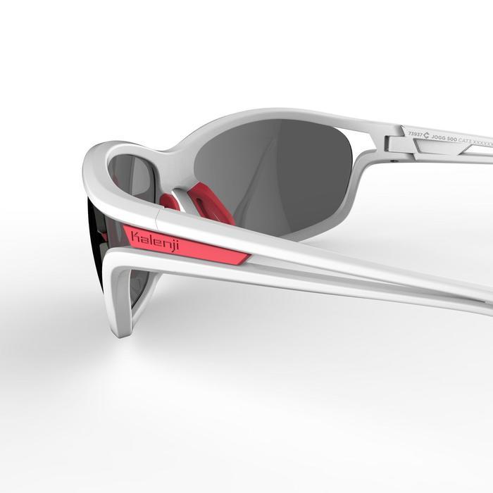 Gafas de running adulto JSG 500 grises y rosas categoría 3 Kalenji ... a5b42daee226