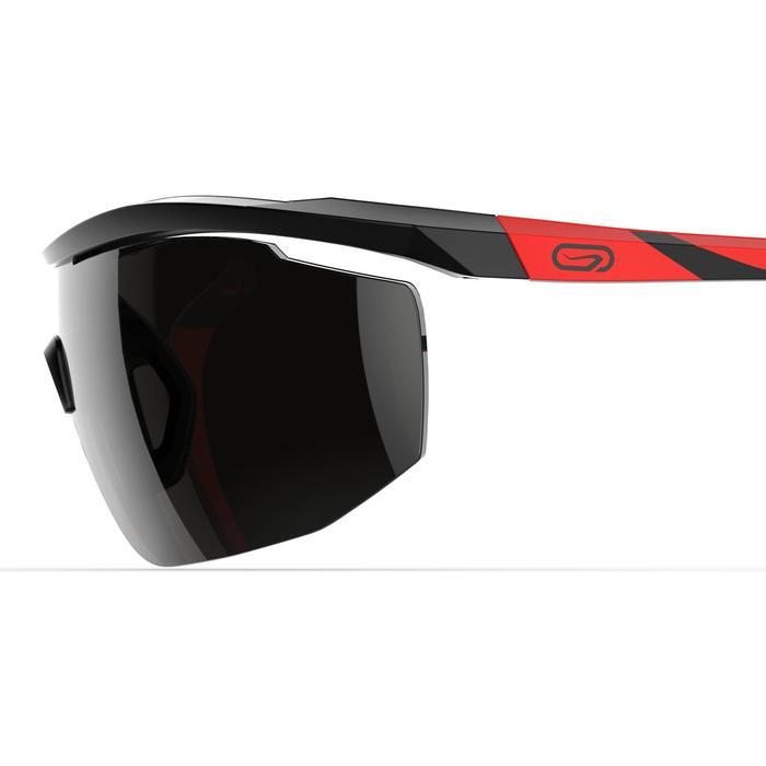 Lunettes de running adulte RUN 500 noir rouge catégorie 3