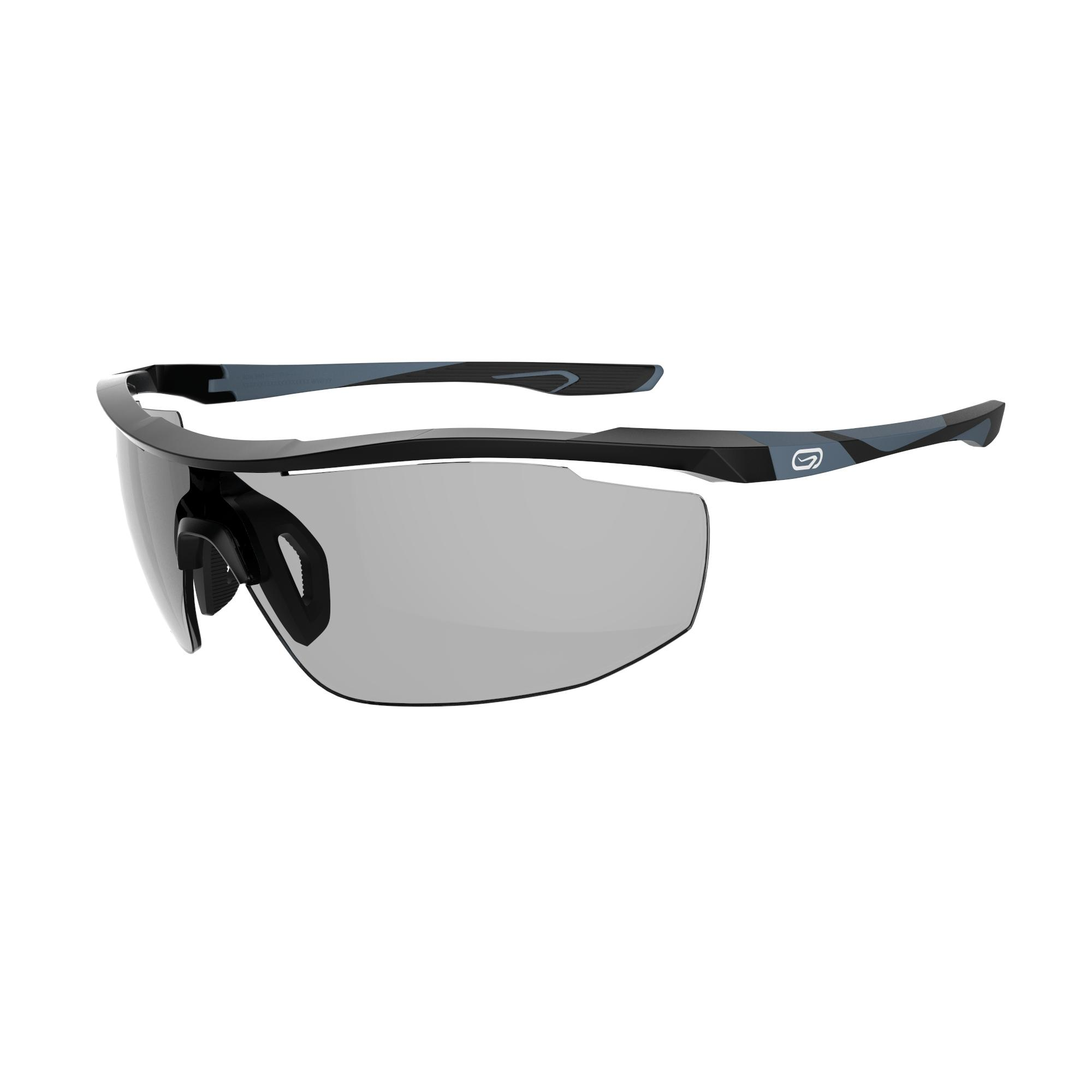Run 560 Adult Running Photochromic Glasses Cat. 1 to 3 - Black and Grey
