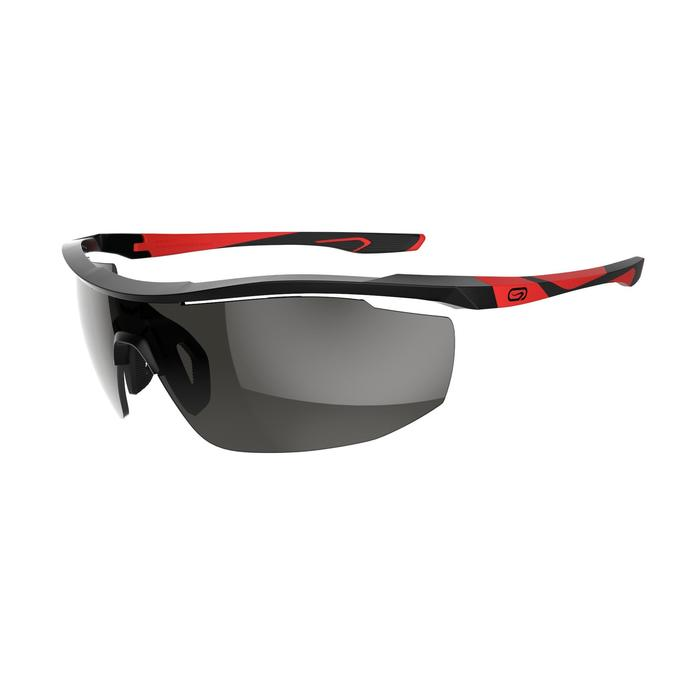 Lunettes de running adulte RUN 500 noir rouge catégorie 3 - 1252078
