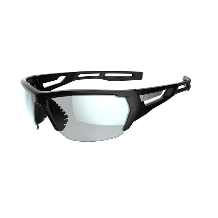Lunettes de running adulte TRAIL 500 noir blanc catégorie 3 glacier - 1252105