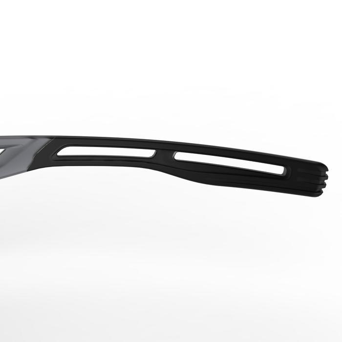 Hardloopbril volwassenen Runtrail fotochromatisch cat. 1 tot 3 grijs/fluogeel