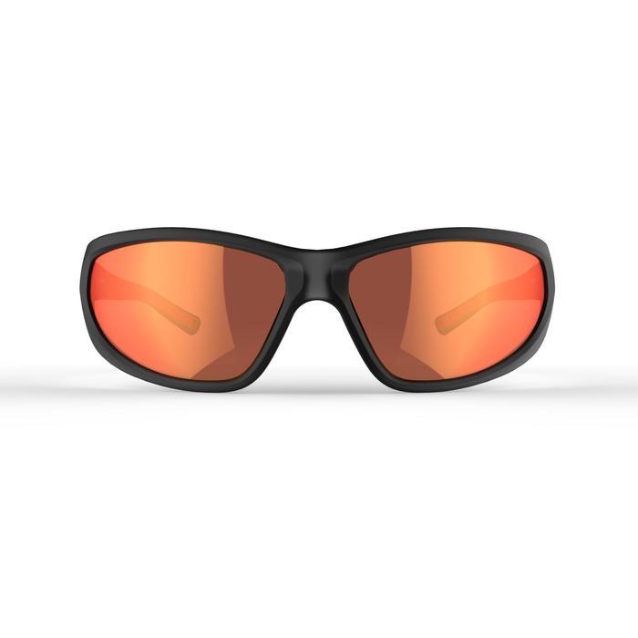 Sonnenbrille polarisierend Wandern MH550 Kategorie 4 Erwachsene grau/rot