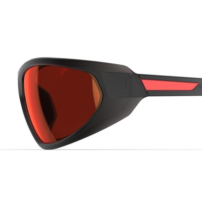 Sonnenbrille Sportbrille MH550 polarisierend Kat.4 Erwachsene grau/rot