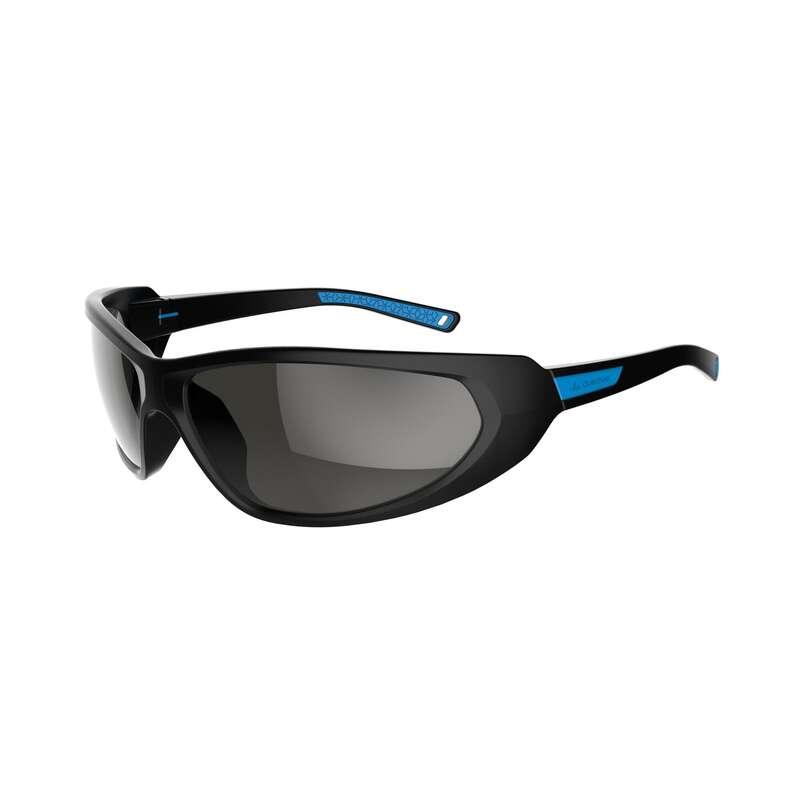 ADULT MOUNTAIN HIKING SUNGLASSES - CAT4 MH550 - BLACK/BLUE QUECHUA
