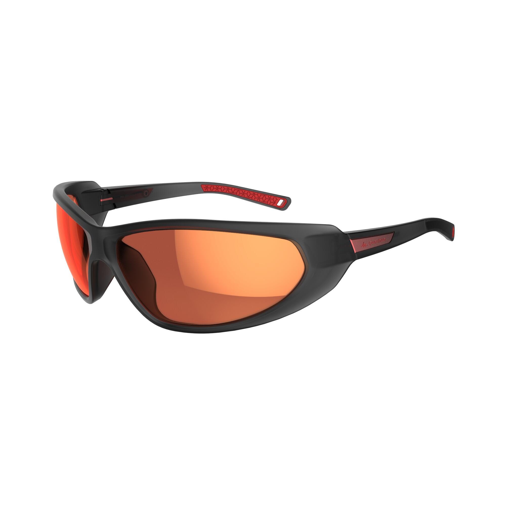 Wed'ze Skizonnebril voor volwassenen SKIING 500 grijs/rood polariserend categorie 4