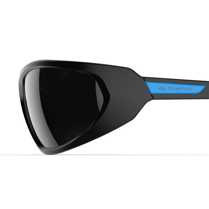 Lunettes de soleil de randonnée adulte MH550 noires & bleues catégorie 4