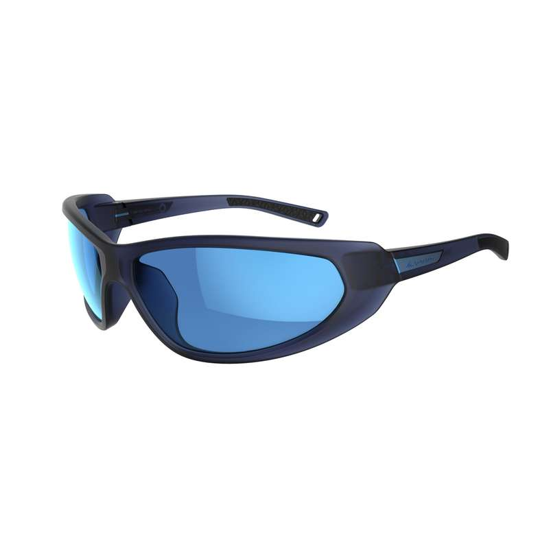 ADULT MOUNTAIN HIKING SUNGLASSES - CAT 4 SMALL MH550 - Blue QUECHUA