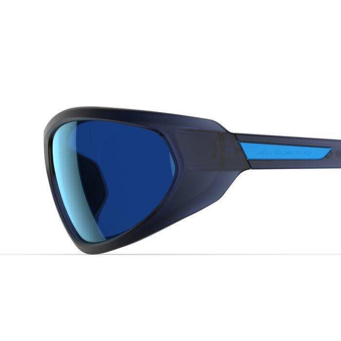 Lunettes de soleil de randonnée pour visage fin MH550 SMALL bleues catégorie 4