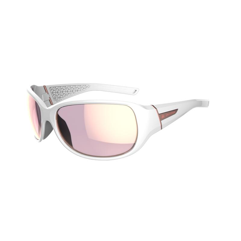 Hiking 500W Adult Hiking Sunglasses Category 3 - White & Pink