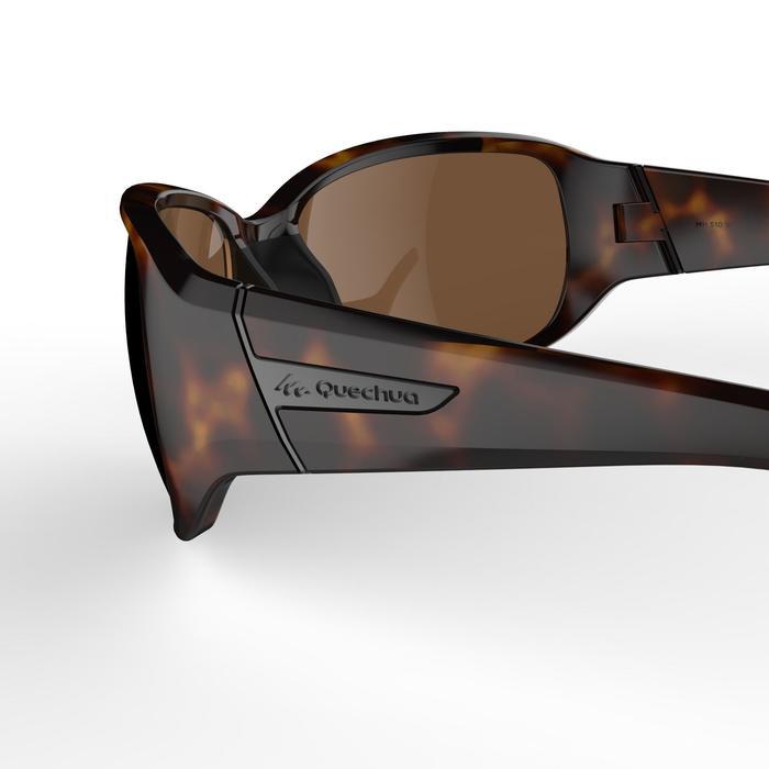 Dameszonnebril MH 510 voor wandelen bruin gevlamd categorie 3