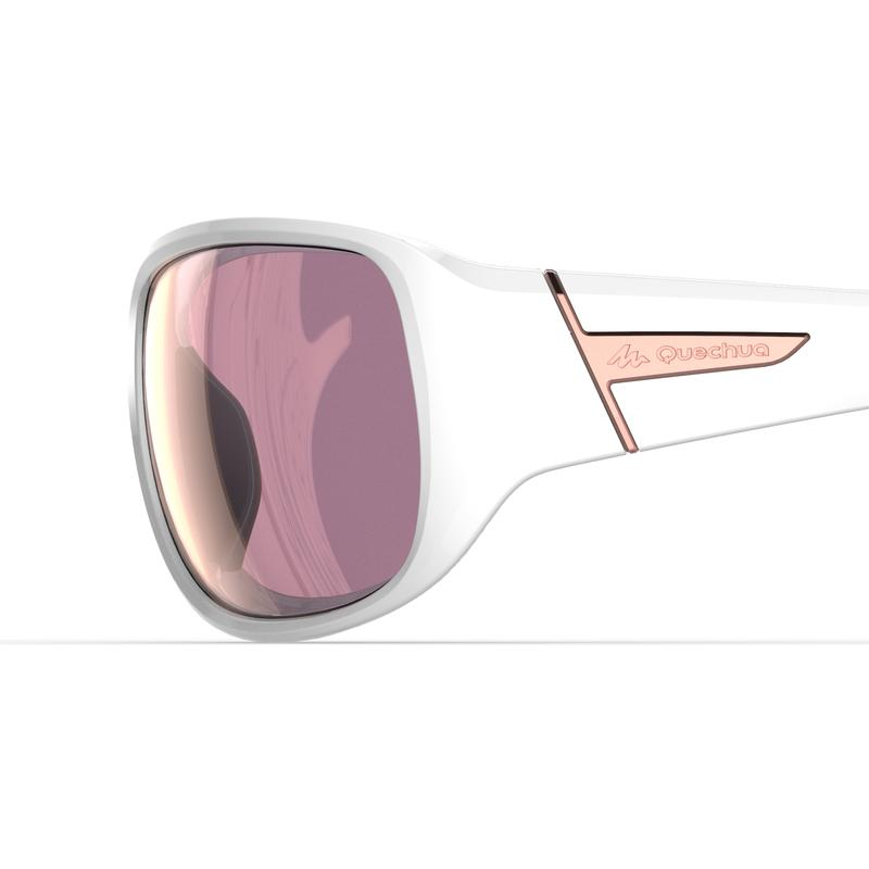 Category 3 polarised MH 510 W adult hiking glasses – White and Pink