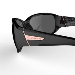 Zonnebril voor trektochten MH550W zwart categorie 4