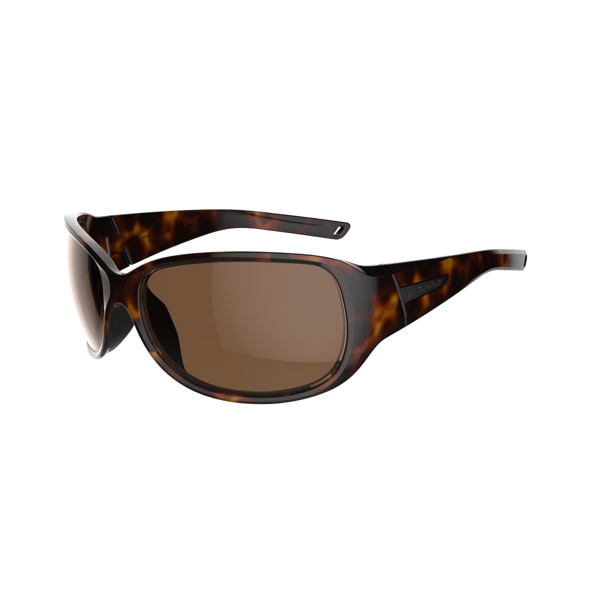 Hiking 500W Adult Hiking Sunglasses Category 3 - Brown Tortoise