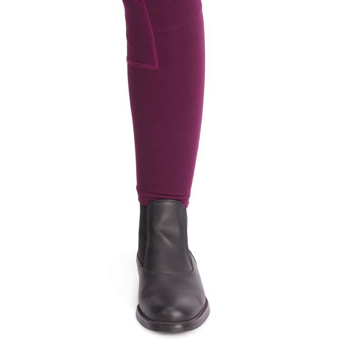 Pantalón equitación BR500 MESH Ciruela y rosa