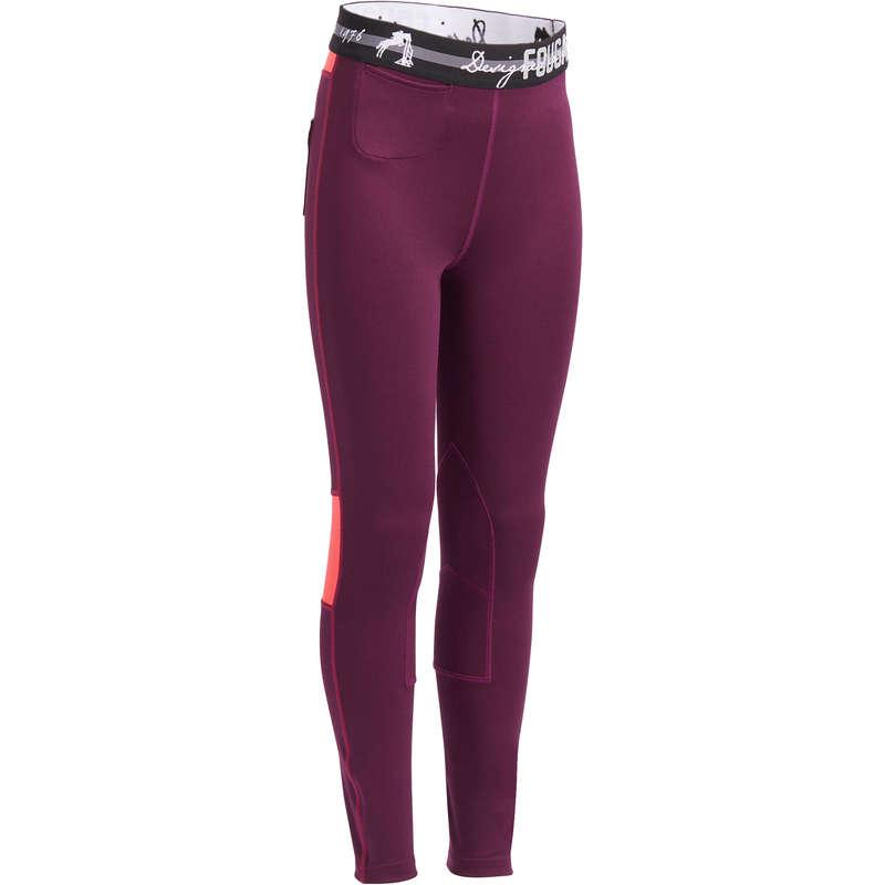 Îmbrăcăminte  echitație Jr. vreme caldă Echitatie - Pantalon BR500 Mesh Fete FOUGANZA - Echitatie