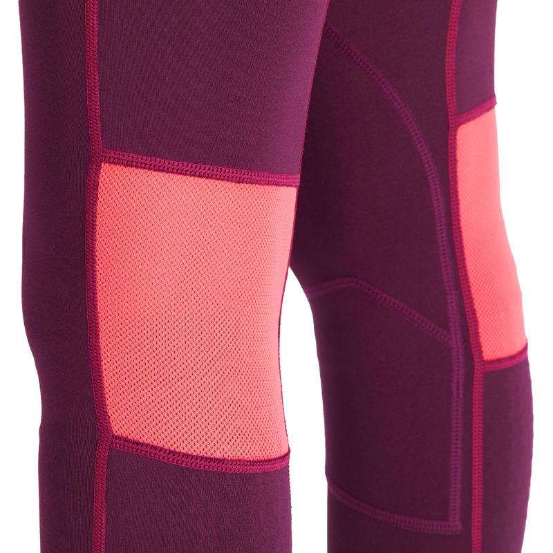 pantalon quitation fille br500 mesh prune et rose decathlon martinique. Black Bedroom Furniture Sets. Home Design Ideas
