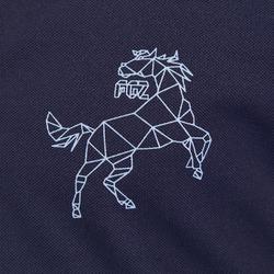Polo Equitación Fouganza 500 Mesh Niño Azul Marino y Gris Manga Corta