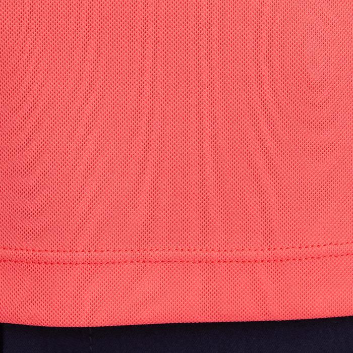 Meisjespolo met korte mouwen voor ruitersport Mesh roze en paars