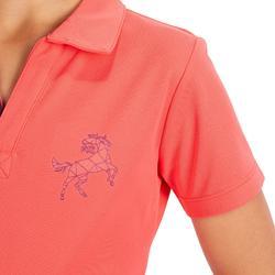 Poloshirt 500 Mesh Kinder rosa/lila