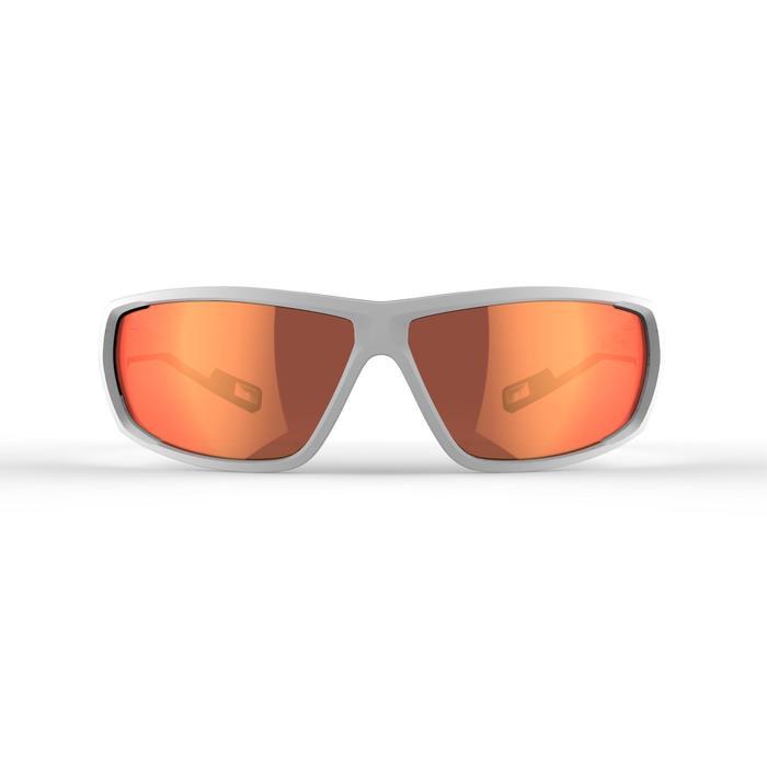 Lunettes de randonnée adulte MH 570 blanches/orange - 2 verres interchangeables - 1252380