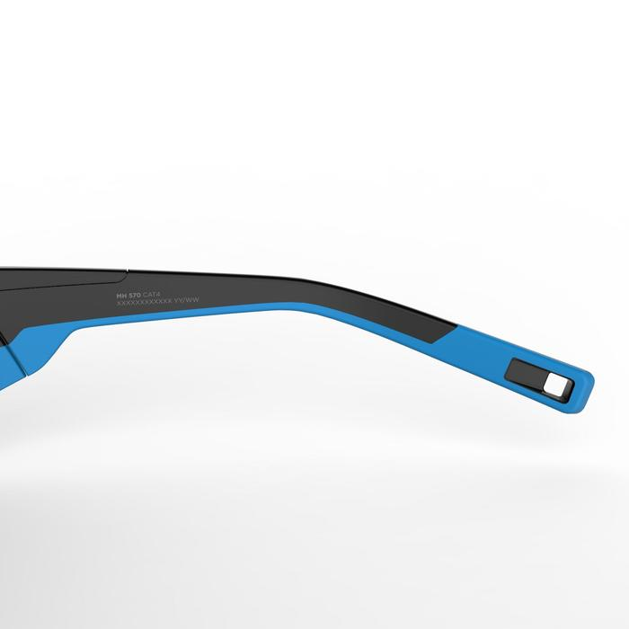 Gafas de senderismo adulto MH 570 negro y azul categoría 4