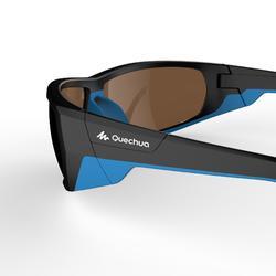 Sonnenbrille Wandern MH570 Kategorie4 Erwachsene schwarz/blau