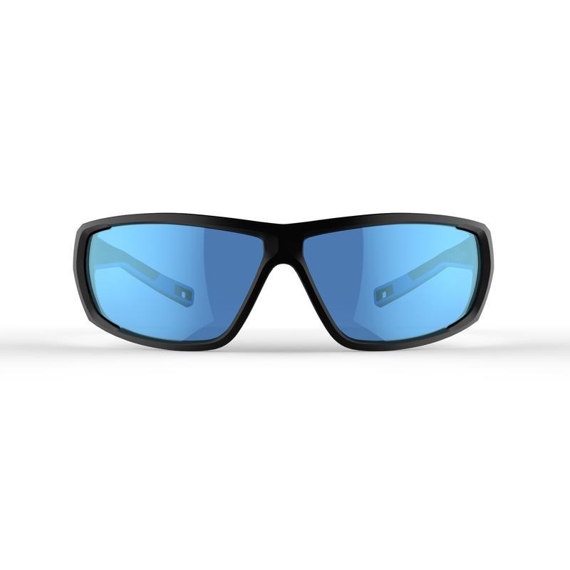 Lentes de sol de senderismo adulto MH570 negro y azul categoría 4