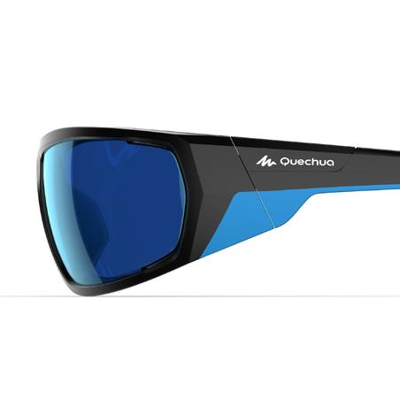 Adults' category 4 hiking sunglasses MH570 – black and blue