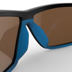 Lentes de sol esquí y montaña adulto IWATE negro y azul categoría 4