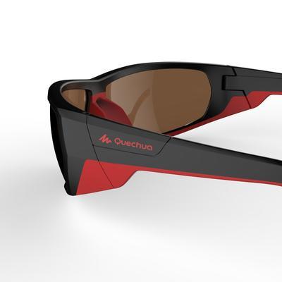 النظارات الشمسية Skiing 700 المستقطبة للكبار للتزحلق من الفئة 4 - لون أسود وأحمر