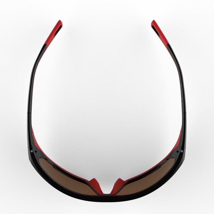 MH570 Category 4 Polarising Hiking Sunglasses - Black/ Red