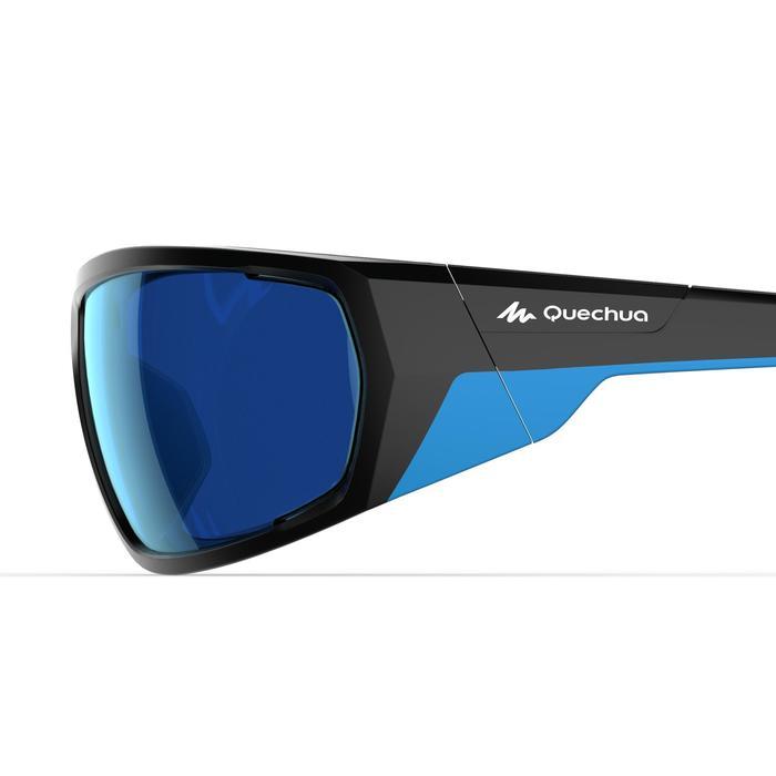 Wandelzonnebril voor volwassenen MH570 zwart en blauw categorie 4