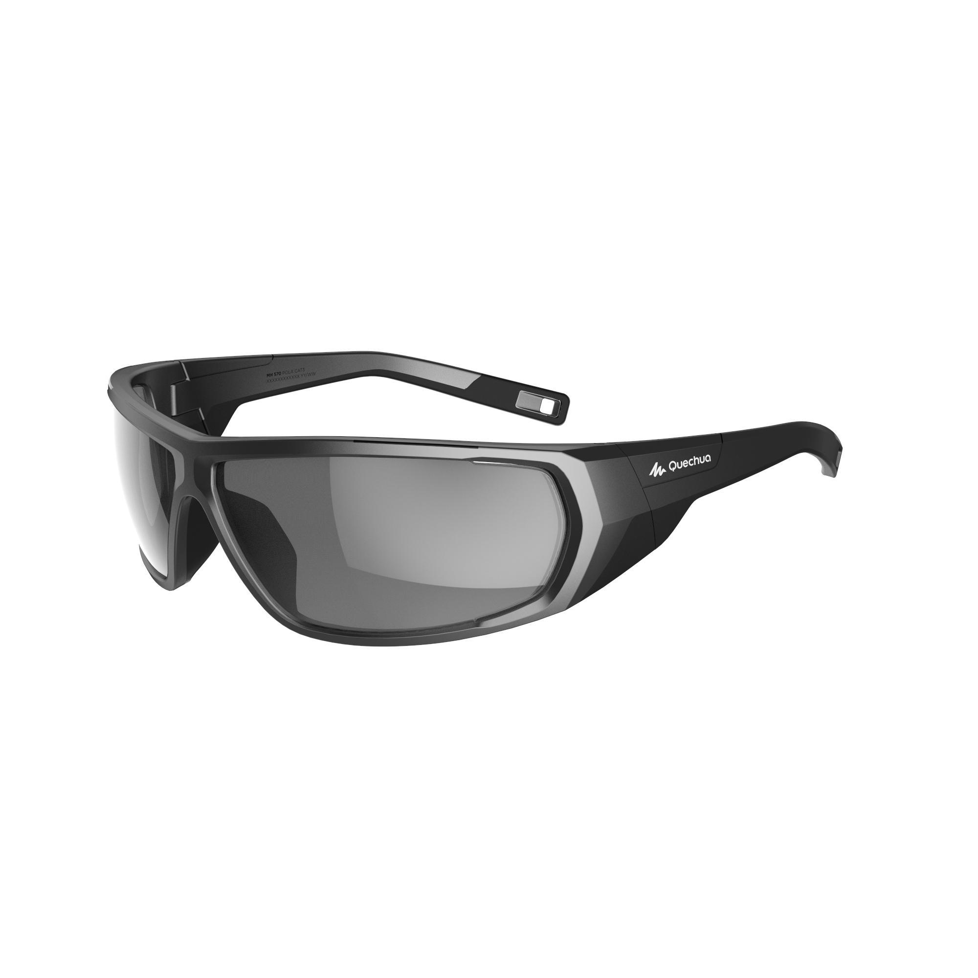 Wed'ze Skibrillen volwassenen Skiing 700 grijs & zwart polariserend categorie 3