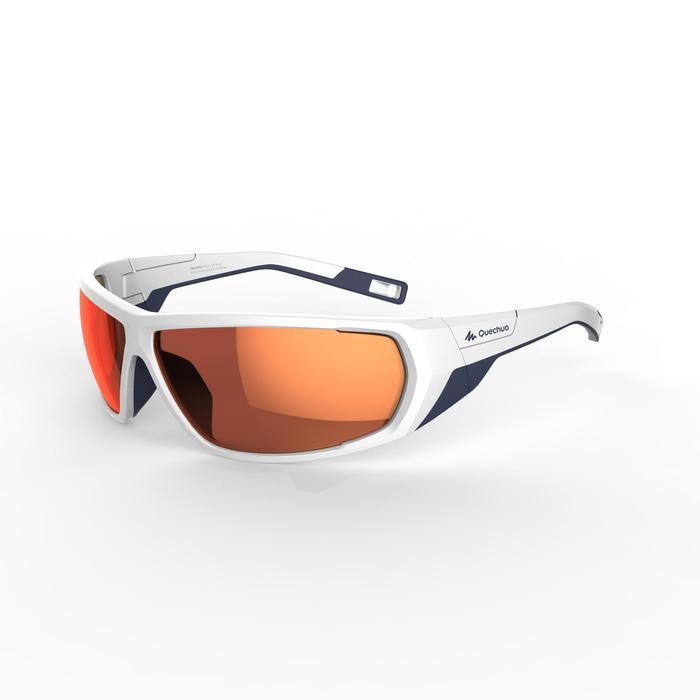 Lunettes de randonnée adulte MH 570 blanches/orange - 2 verres interchangeables - 1252409