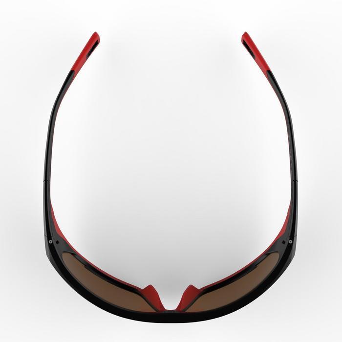 Lunettes de randonnée adulte MH 570 noires & rouges polarisantes catégorie 4