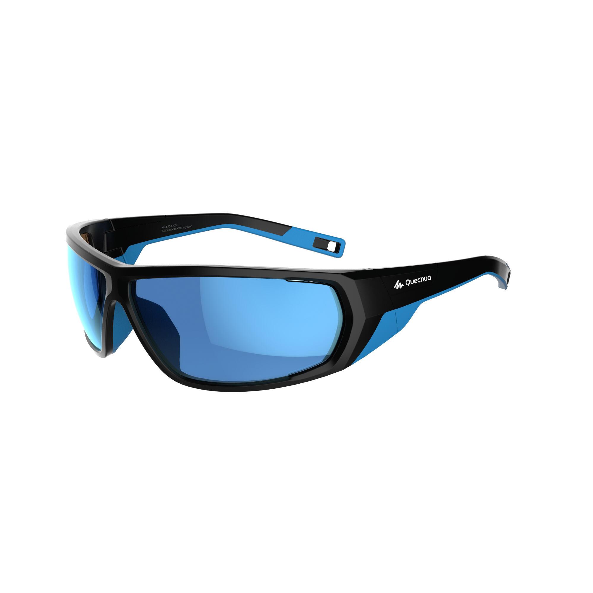 Quechua Skibrillen volwassenen Skiing 700 zwart & blauw categorie 4